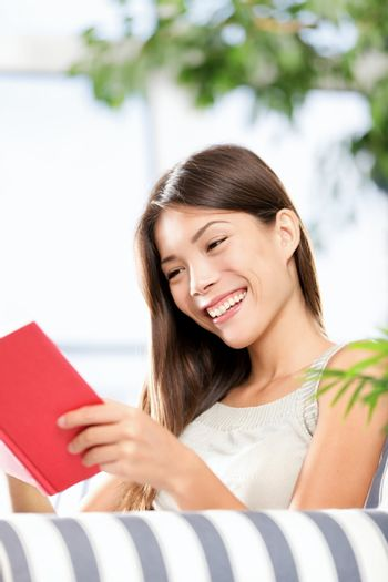 reading book woman