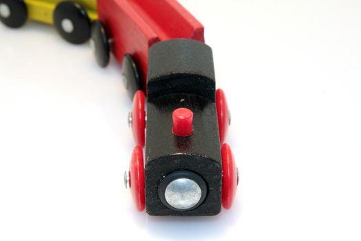 wood train isolated on white background