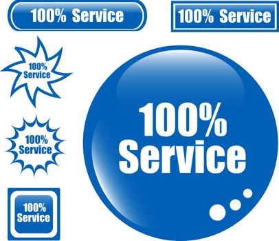 SERVICE 100% Web Button set of different form icon