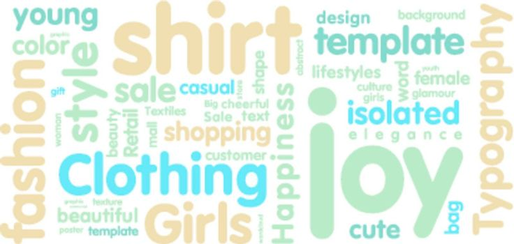 Tag cloud on the subject of style, fashion on white
