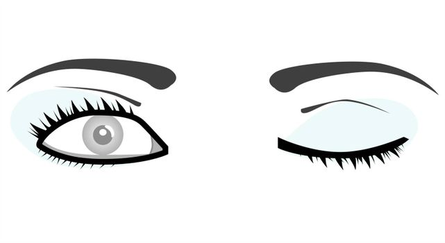 vector woman eyes illustration