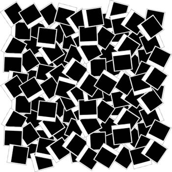 set of Instant photo frames vector background