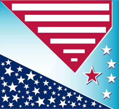 US american flag themed background or card