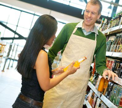 Helpful Grocery Store Clerk