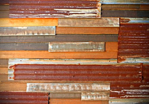 background image of rusty corrugated iron sheets