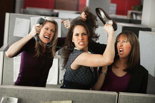 Three Women Quarreling