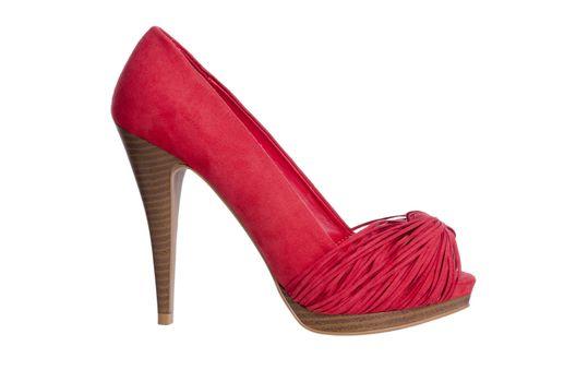 Red high heel women shoe