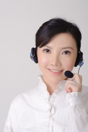 Asian assistant lady