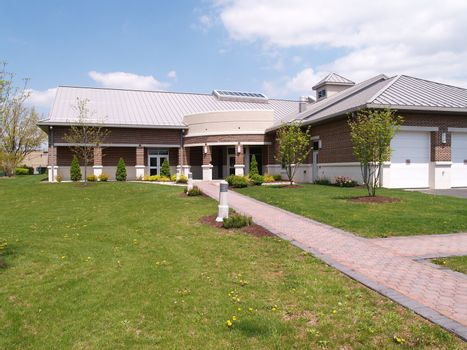 a modern township municipal building