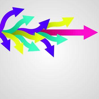 colorful vector sticker arrows. Vector illustration