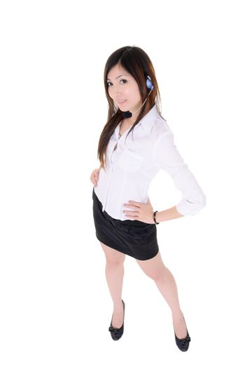 Attractive assistant woman