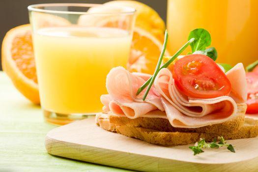 Delicious Toast and Orange Juice