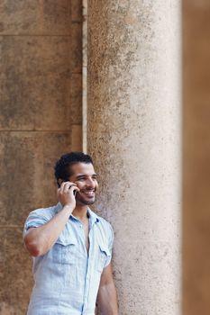 man talking on cellphone