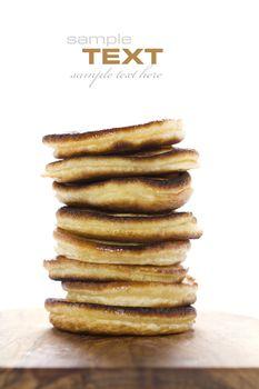 Stack of freshly prepared pancakes