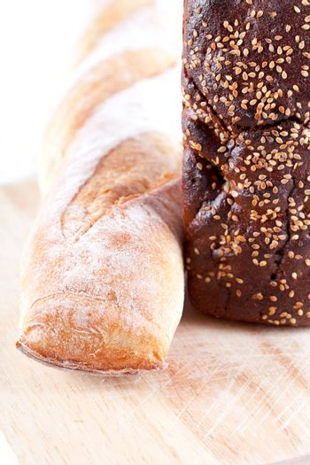 bread and baguette