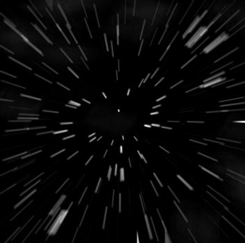 Blasting through space at high speed, this is probably what it would look like.