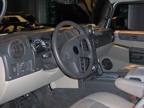Interior of a modern SUV.
