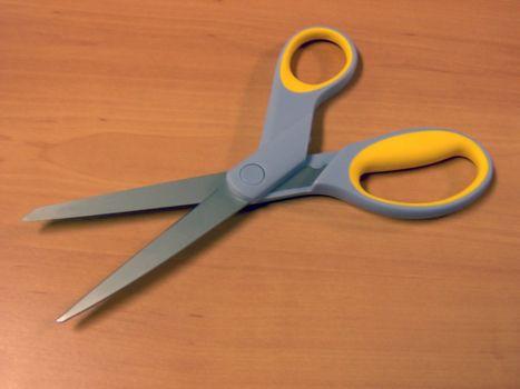 Some scissors on my desk