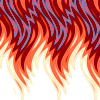 Hot flames background.