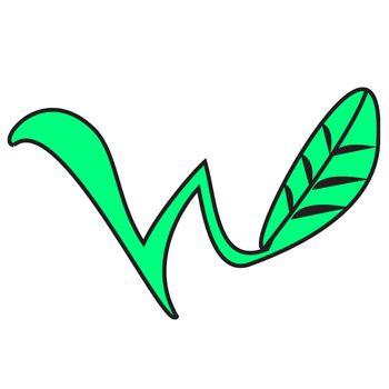 "a ""w"" shaped plat / leaf"
