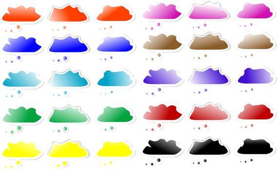 set of Speech bubbles cloud internet element
