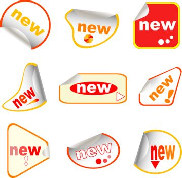 New labels sticky set in different form