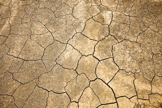 dry,Cracked and Arid  Ground without water