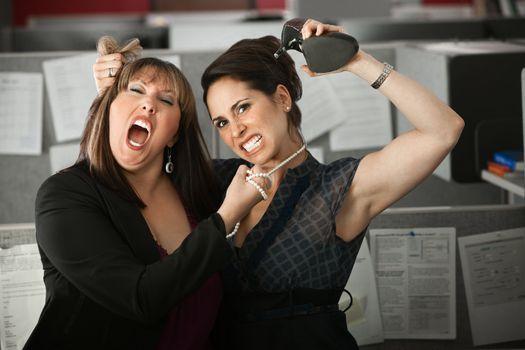 Women Employees Quarreling