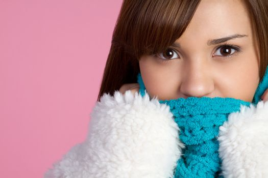 Pretty girl wearing winter clothes
