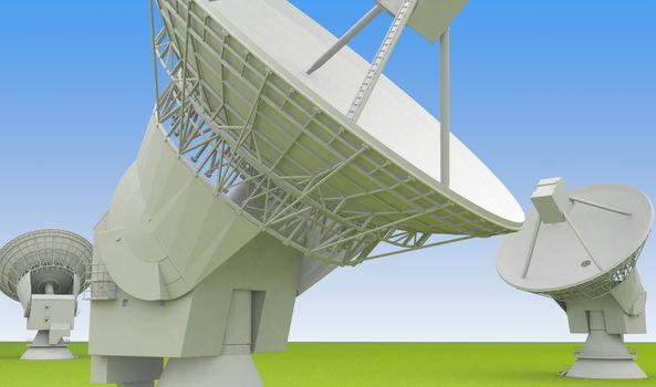 large radio antenna