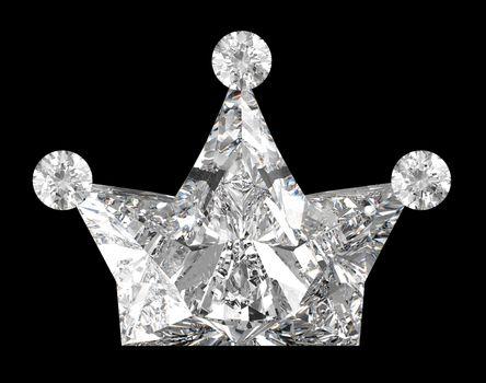 Crown shaped Diamond over black