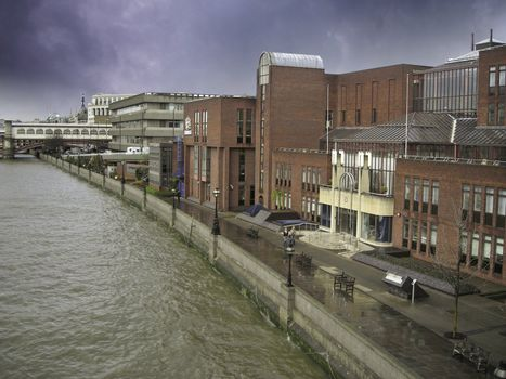London Architecture along Thames River