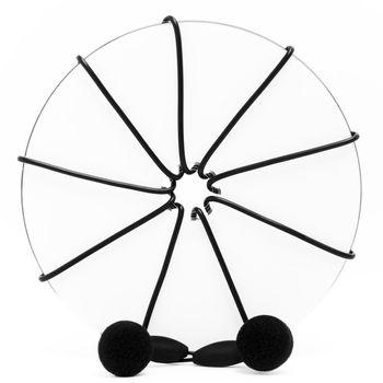 Disc and earphones