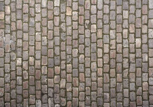 Cobbled road close-up; texture; background