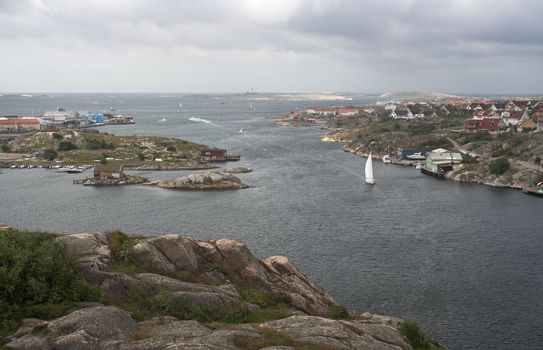 village on a rocky Swedish coast