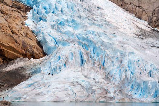 Walking up the glacier - Briksdal, Norway