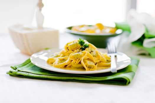 Tortellini with Butter and Sage
