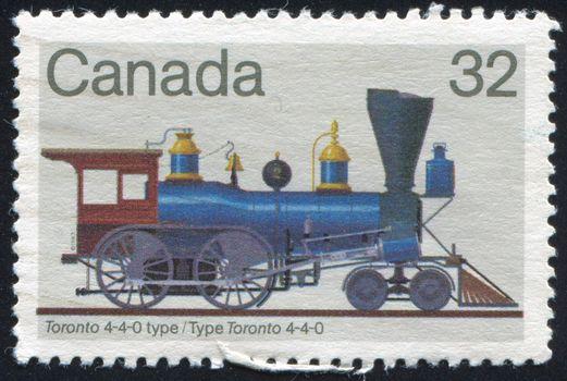 CANADA - CIRCA 1999: stamp printed by Canada, shows locomotive, circa 1999