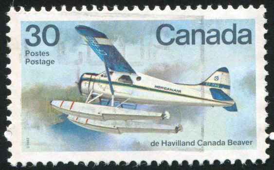 CANADA - CIRCA 1982: stamp printed by Canada, shows De Havilland Canada Beaver, circa 1982