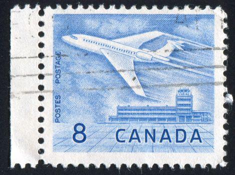 CANADA - CIRCA 1964: stamp printed by Canada, shows aeroplane, circa 1964