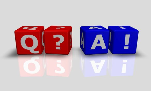 Cube words with Q&A