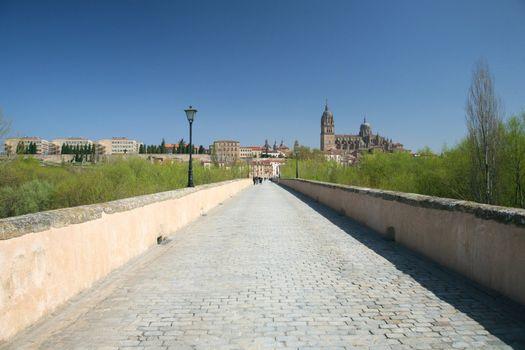 bridge to Salamanca city