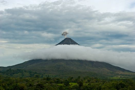 Amazing view over the active Arenal Volcano in Costa Rica.