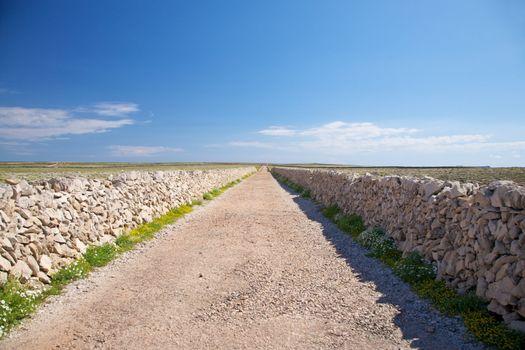 typical rural road at Menorca