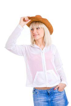 girl in coyboy hat