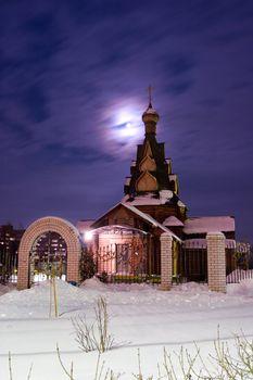 Church in a moonlight