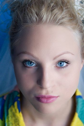 portrait of a girl with blue eyes