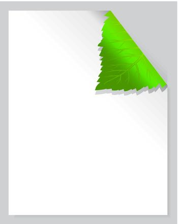 Leaf Page vector illustration on gray background with shadow