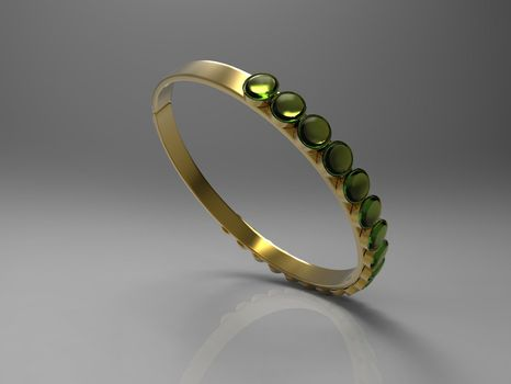 the ring and gemstones