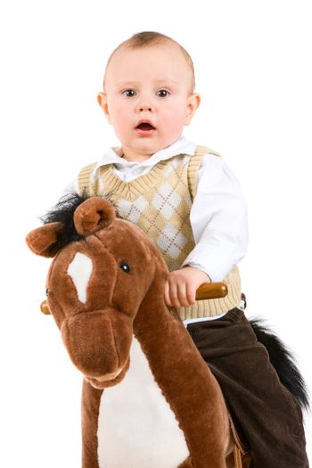 small boy on the horse